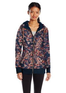 Roxy Snow Junior's Frost Printed Fleece Jacket Peacoat_Waterleaf XL