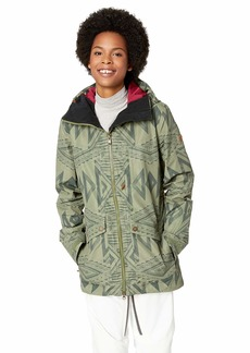Roxy Snow Junior's Glade Printed Gore-Tex 2L Snow Jacket Four Leaf Clover_Matador S