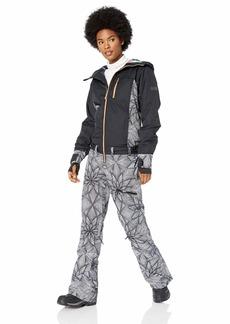 Roxy Snow Junior's Illusion Jacket and Pant Suit True Black_POP Stars XL