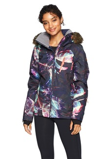 Roxy SNOW Junior's Jet Ski Premium Snow Jacket Peacoat_Seamless Feathers M
