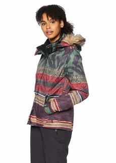 Roxy Snow Junior's Jet Ski SE Snow Jacket True Black_Wild Ethnic S