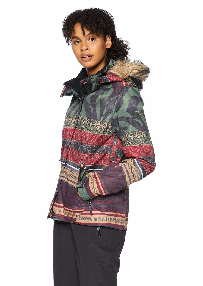 Roxy Snow Junior's Jet Ski SE Snow Jacket True Black_Wild Ethnic XL