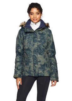 Roxy Snow Junior's Jet Ski Snow Jacket Dusty Ivy_Sylvan Forest XS