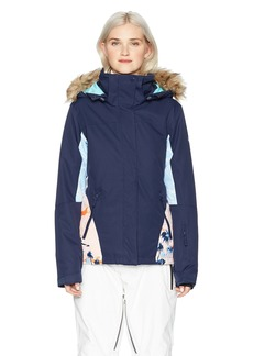 Roxy Snow Junior's Jet Ski Snow Jacket Mandarin Orange_POP Snow Cryst XL