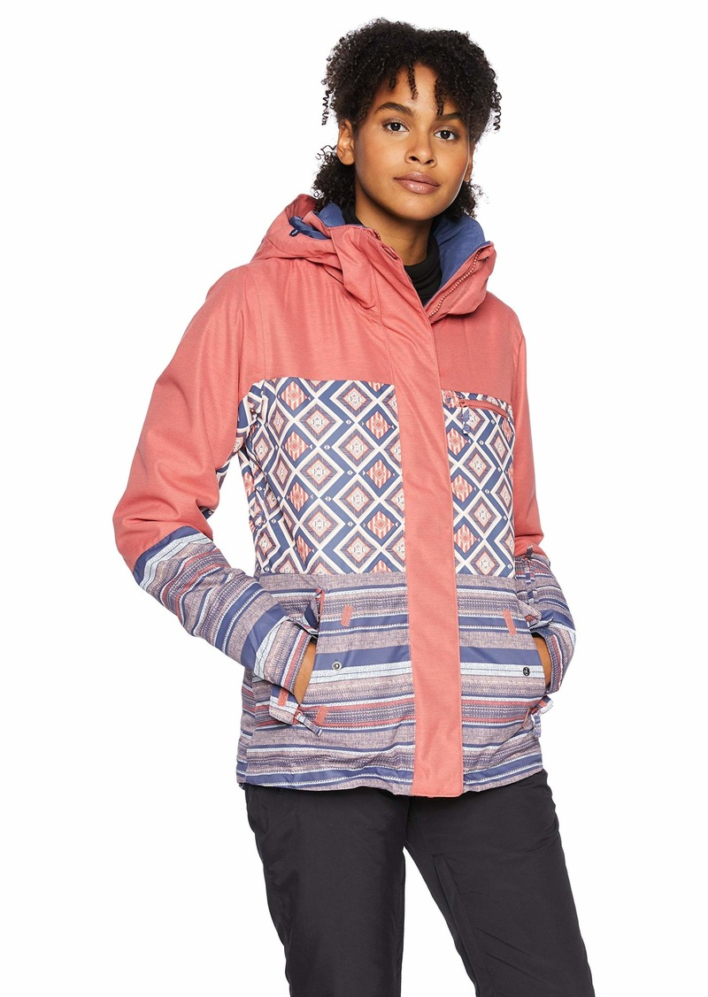 Roxy Snow Junior's Jetty Block Snow Jacket Dusty Cedar_Edit Song geo XL