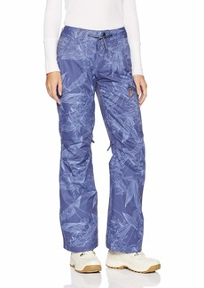 Roxy Snow Junior's Nadia Printed Snow Pant Crown Blue_Washed Floral XL