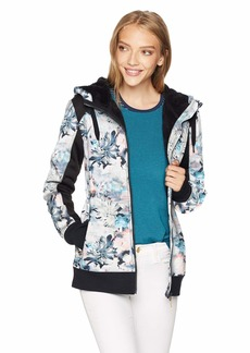 Roxy SNOW Junior's Printed Frost Snow Layer Jacket Bachelor Button_Water of Love L