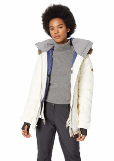 Roxy Snow Junior's Quinn Jacket egret XL
