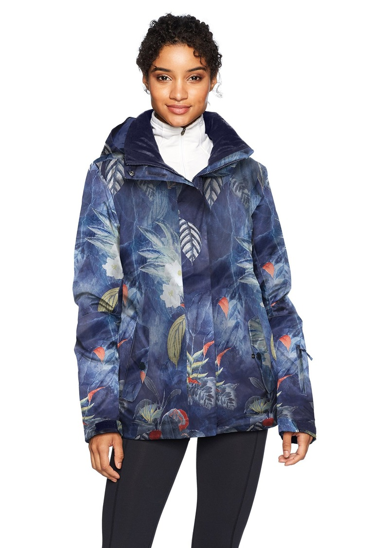 Roxy Snow Junior's Jetty Snow Jacket Peacoat_Orissa Floral M