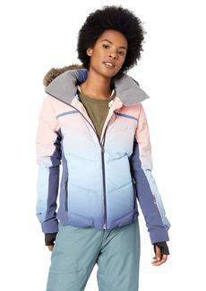 Roxy Snow Junior's Snowstorm Printed Snow Jacket Powder Blue_Gradient L