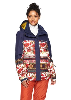 Roxy SNOW Junior's Torah Bright Roxy Jetty Snow Jacket Rooibos TEA_BOTANIC Stripes L