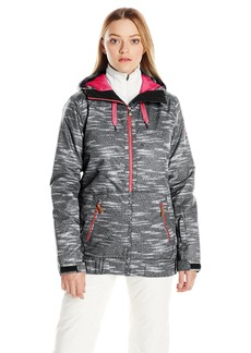 Roxy SNOW Junior's Valley Hoodie Tailored Fit Snow Jacket Bounding_True Black