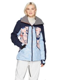 Roxy SNOW Junior's Wildlife Snow Jacket Mandarin Orange_Pop Snow Cryst S