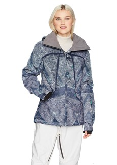 Roxy Snow Junior's Wildlife Snow Jacket Peacoat_AVOYA M