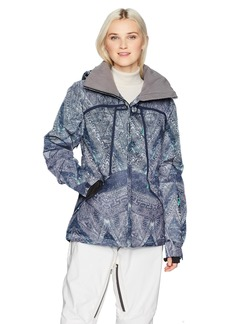 Roxy Snow Junior's Wildlife Snow Jacket Peacoat_AVOYA S
