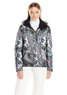 Roxy SNOW Junior's Jet Ski Printed Slim Fit Jacket Ha-Hui L