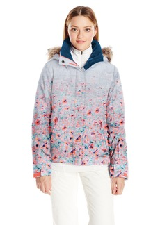 Roxy SNOW Women's Jet Ski Printed Slim Fit Jacket  L