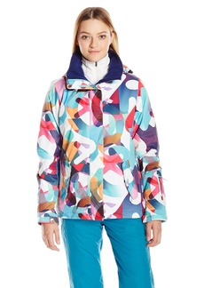 Roxy SNOW Junior's Jetty Printed Regular Fit Snow Jacket ilo Typo