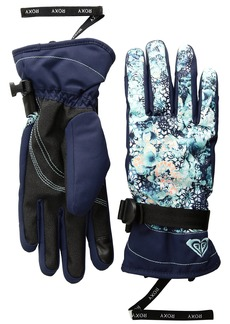 Roxy SNOW Junior's Roxy Jetty Gloves Aruba BLUE_KALEIDOS Flowers L