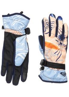 Roxy SNOW Junior's Roxy Jetty Gloves Mandarin ORANGE_POP Snow Cryst L