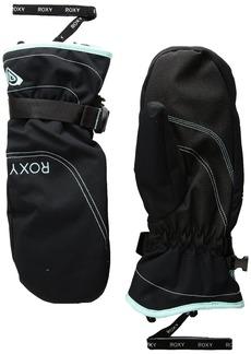 Roxy SNOW Women's Junior Roxy Jetty Solid Mitt Gloves Accessory -true black M