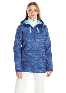 Roxy SNOW Junior's Valley Hoodie Tailored Fit Snow Jacket  XL