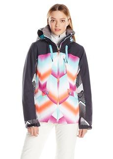 Roxy SNOW Junior's Wildlife Printed Tailored Fit Snow Jacket  L