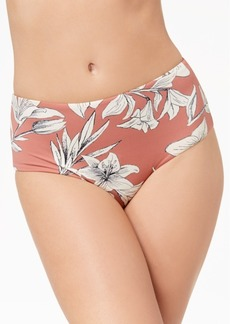 Roxy Softly Love Printed Mid-Waist Bikini Briefs Women's Swimsuit