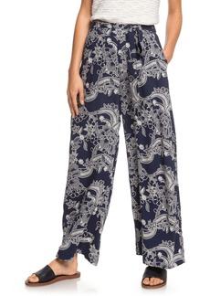 Roxy South of World Floral Print Wide Leg Pants