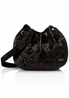 Roxy Spread Love Velvet Medium Crossbody Bag true black