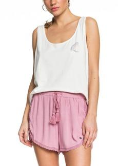 Roxy Spring Sparkle Lace-Trim Beach Shorts