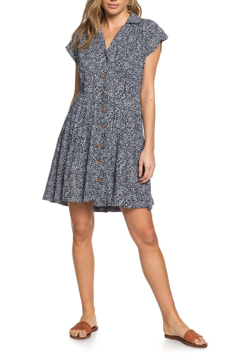 Roxy Sunny Days Ahead Dot Print Mini Shirtdress