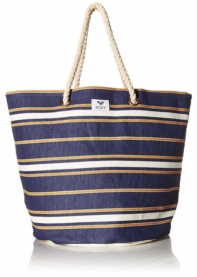 Roxy Sunseeker Beach Tote medieval blue macy stripe swim
