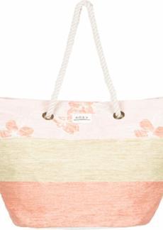 Roxy Sunseeker Straw-Beach-Bag Silver Pink philly s