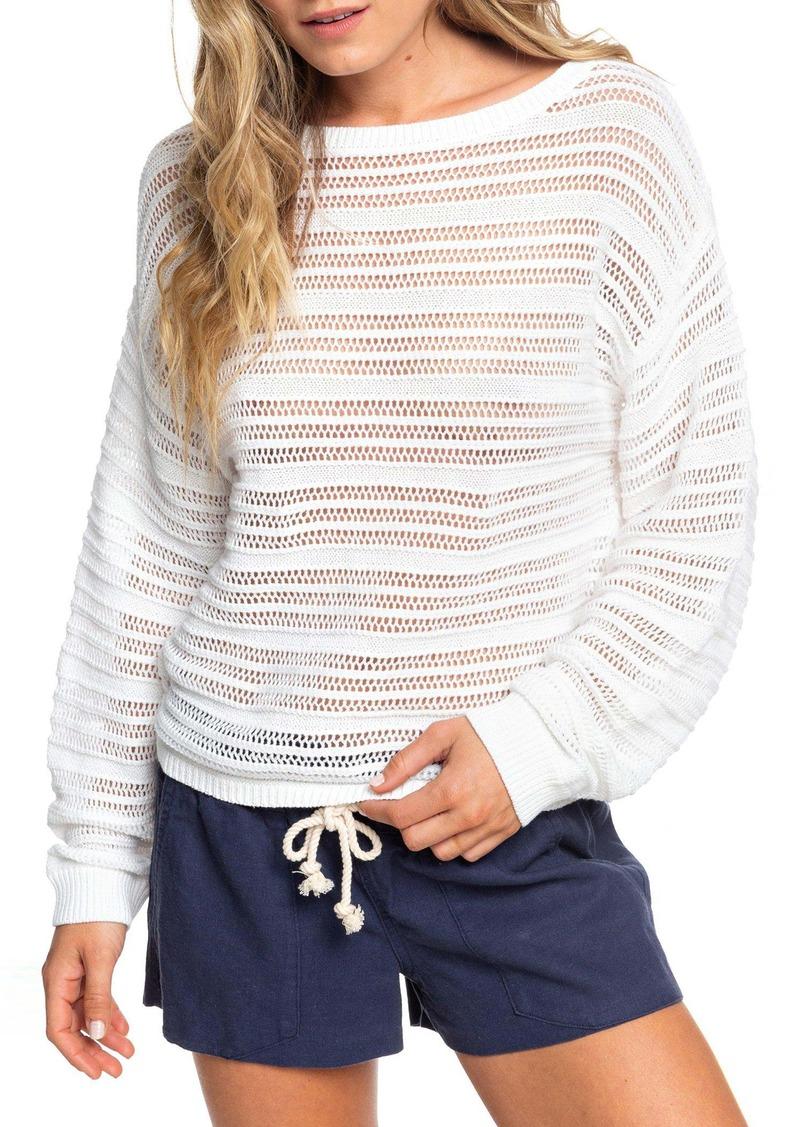 Roxy Sweet Amore Open Stripe Sweater