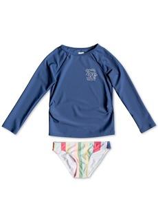 Roxy Toddler Girls 2-Pc. Rash Guard Swim Set