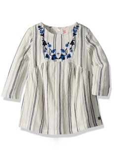 Roxy Girls' Toddler Moon Magic and You Dress Marshmallow TRANSAT Stripe