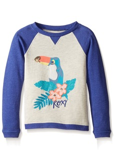 Roxy Toddler Girls' My Arms Around U Long Sleeve Fleece  T