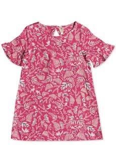 Roxy Toddler Girls Printed Ruffle-Sleeve Dress