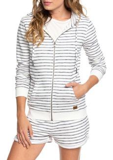 Roxy Trippin Stripes Front Zip Hoodie