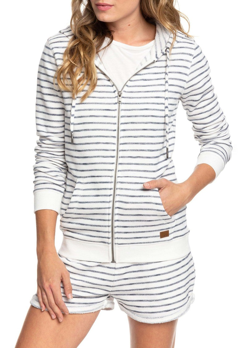 Roxy Trippin Stripes Front Zip Pullover