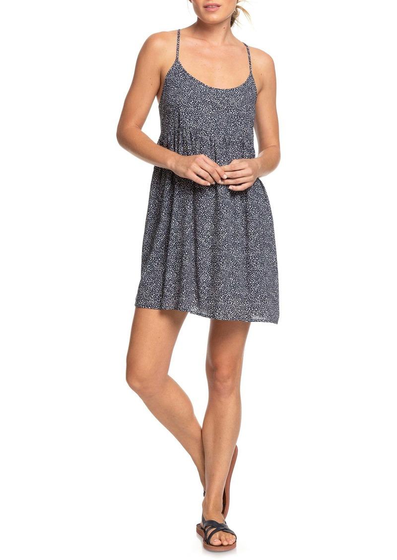 Roxy Tropical Sundance Dot Print Babydoll Dress