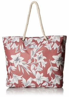 Roxy Tropical Vibe Printed Beach Tote withered rose lily house