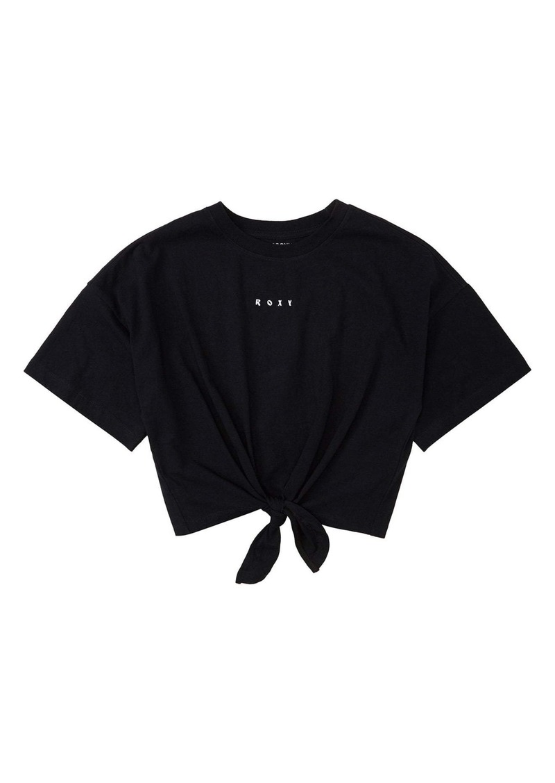 Roxy Twist Tie Front Crop T-Shirt