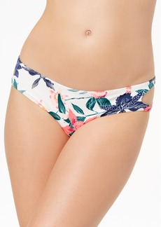 Roxy Urban Waves Printed Cutout Bikini Bottoms Women's Swimsuit