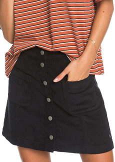 Roxy Warning Sign Corduroy Miniskirt