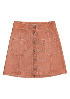 Roxy Warning Sign Corduroy Miniskirt