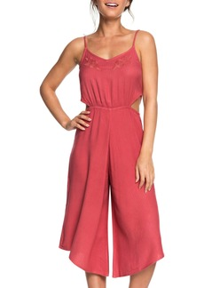 Roxy Waterfall Reflect Wide Leg Crop Jumpsuit