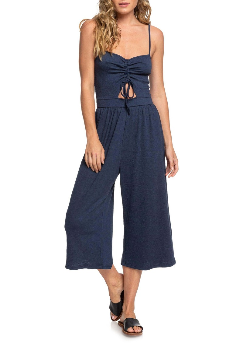 Roxy Where You Move Wide Leg Crop Jumpsuit
