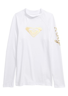 Roxy Wave Rider Long Sleeve Rashguard (Big Girl)